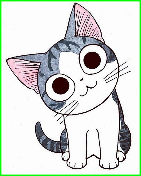 Muka Kucing Comel Kartun Kucingcomel Com
