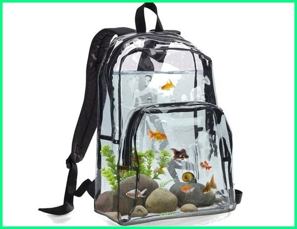 aquarium aneh, akuarium aneh bentuk tas, aquarium unik dan aneh, ikan hias aquarium aneh