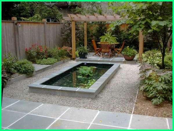 kolam ikan hias minimalis, kolam ikan hias sederhana, kolam ikan hiasan, inspirasi kolam ikan hias, jenis kolam ikan hias, model kolam ikan hias kecil