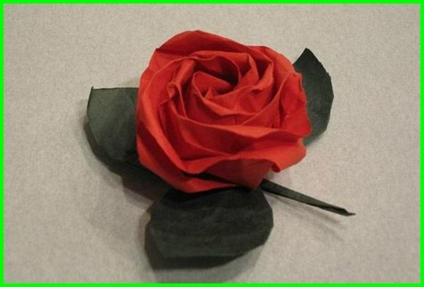 gambar origami bunga, gambar bunga origami 3d, gambar origami bunga mawar 3d