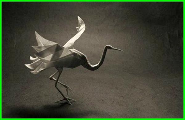 gambar origami burung, gambar origami burung bangau, gambar origami burung kertas, gambar origami burung camar, cara membuat origami gambar burung