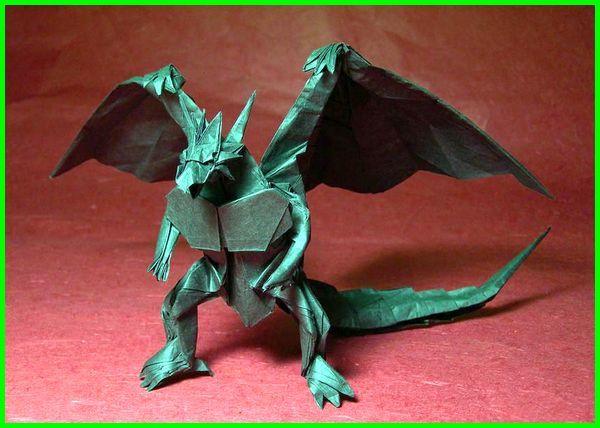 gambar origami binatang, gambar origami hewan, gambar origami naga, Bahamut