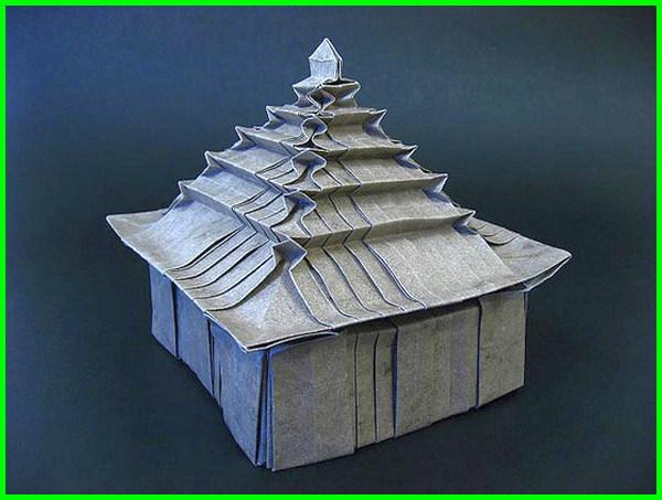 gambar origami rumah, gambar origami rumah adat, gambar origami bentuk rumah, gambar rumah dari kertas