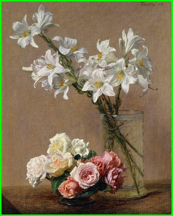 gambar lukisan bunga mawar, gambar lukisan bunga mawar hitam putih, lukisan bunga indah, gambar lukisan bunga lily, contoh lukisan bunga lily, lukisan bunga lily, lukisan bunga lily putih, gambar lukisan naturalisme bunga, contoh lukisan bunga dan potnya