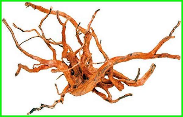hiasan akuarium dari kayu