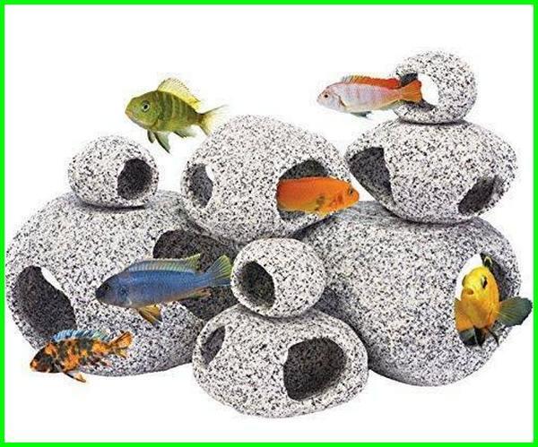 dekorasi batu aquarium, dekorasi akuarium dengan batu